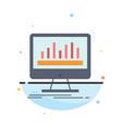 analytics processing dashboard data stats flat vector image