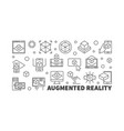 augmented reality horizontal ar outline vector image vector image