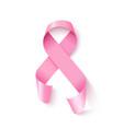 awareness pink ribbon loop realistic vector image