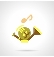 Baritone flat color icon vector image vector image