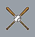 baseball bat cross with ball logo icon asset