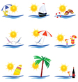 beauty summer icon vector image vector image