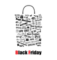 Black Friday shopping bag vector image vector image