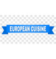 blue stripe with european cuisine title vector image