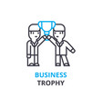 business trophy concept outline icon linear vector image vector image