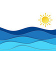 calm sea view in summer time with sunny weather vector image vector image