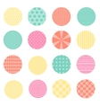 Circles with retro design vector image