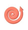 Curling pink arrow cartoon icon vector image vector image