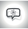 Curved atom message icon vector image vector image