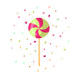 cute cartoon sweet lollipop icon cute colored vector image vector image