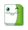 cute notebook cartoon vector image vector image