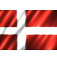 denmark national flag background vector image vector image