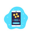 donation app icon with smart phone vector image vector image
