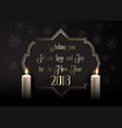 elegant happy new year background with candles vector image vector image