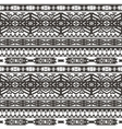 Ethnic seamless pattern in native style Monochrom vector image vector image