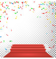 festive stage podium scene falling vector image