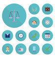 flat icons group libra diagram and other vector image vector image