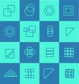 Geometric flat icon logo set vector image vector image