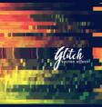 glitch abstract background showing malfunction vector image vector image