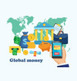 global money design banner vector image vector image