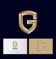 gold letter g like a shield monogram vector image