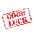 Good luck rubber stamp vector image vector image