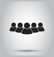 group of people icon on isolated background vector image vector image