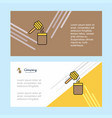 honey abstract corporate business banner template vector image