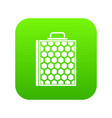 honeycomb icon digital green vector image