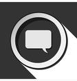 icon - speech bubble with shadow vector image vector image