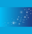 lights on blue background magic concept vector image vector image