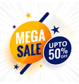 mega sale attractive sale banner with stars