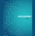 molecule blue background vector image