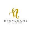 monogram letter n branding logo vector image vector image