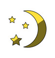 moon with stars vector image