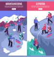 mountain tourism vertical banners vector image