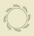 ornament decorative frame 01 vector image vector image