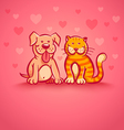 pets pink love vector image vector image