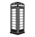 phone booth vector image