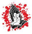 prayer christian praying together vector image vector image