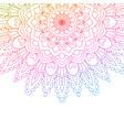 rainbow coloured mandala background vector image vector image
