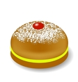 Red Jelly Donuts for Hanukkah vector image vector image