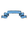 ribbon banner element decoration design vector image vector image