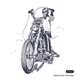 Rider on a chopper vector image