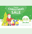 sale holiday website banner templates christmas vector image
