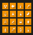 Science icon Set long shadow vector image