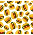 Seamless barbecue hamburgers pattern background vector image vector image