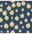 Seamless christmas garland pattern on blue