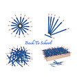 set of sharpened pencils on white background vector image vector image