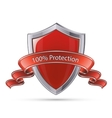 Shield symbol 100 percent protection vector image vector image